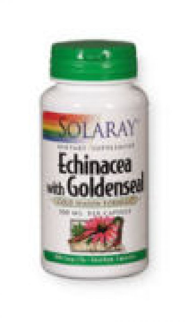 Solaray Echinacea w/ Goldenseal 500mg 100 Caps