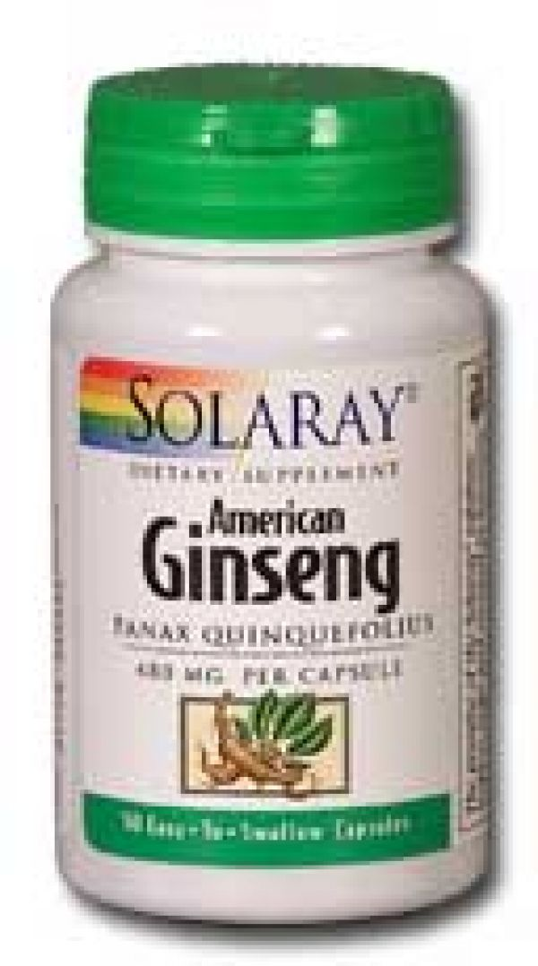 Solaray Ginseng Root American 480mg 50 caps