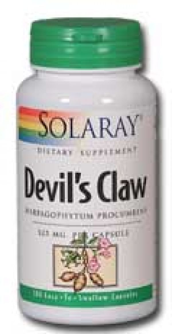Solaray Devils Claw 525mg 100 Caps