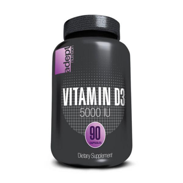 Adept Nutrition High Potency Vitamin D3 5000IU