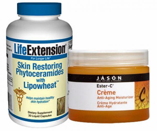 As Seen on TV Skin Restoring Stack (Vitamin C+E * Phytoceramides)