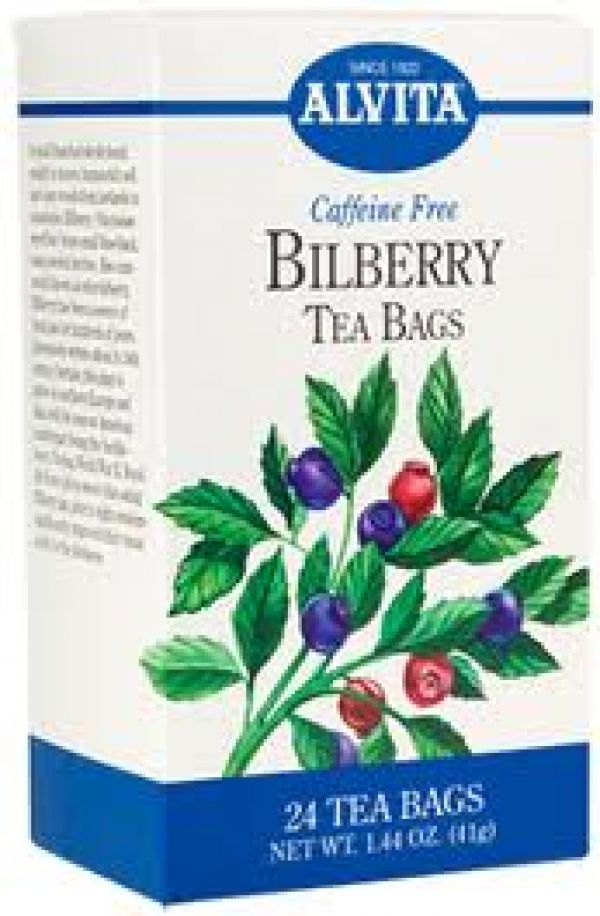 Alvita Bilberry Tea 24 Bags