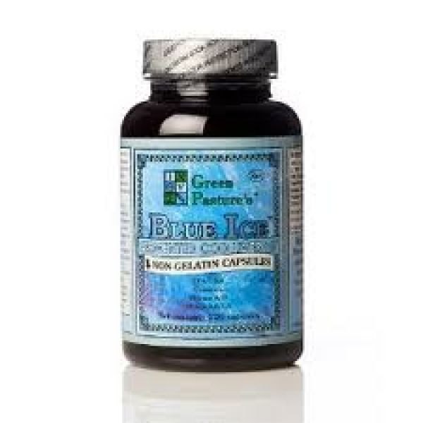 Blue Ice Fermented Cod Liver Oil Non-Flavored 120 Capsules