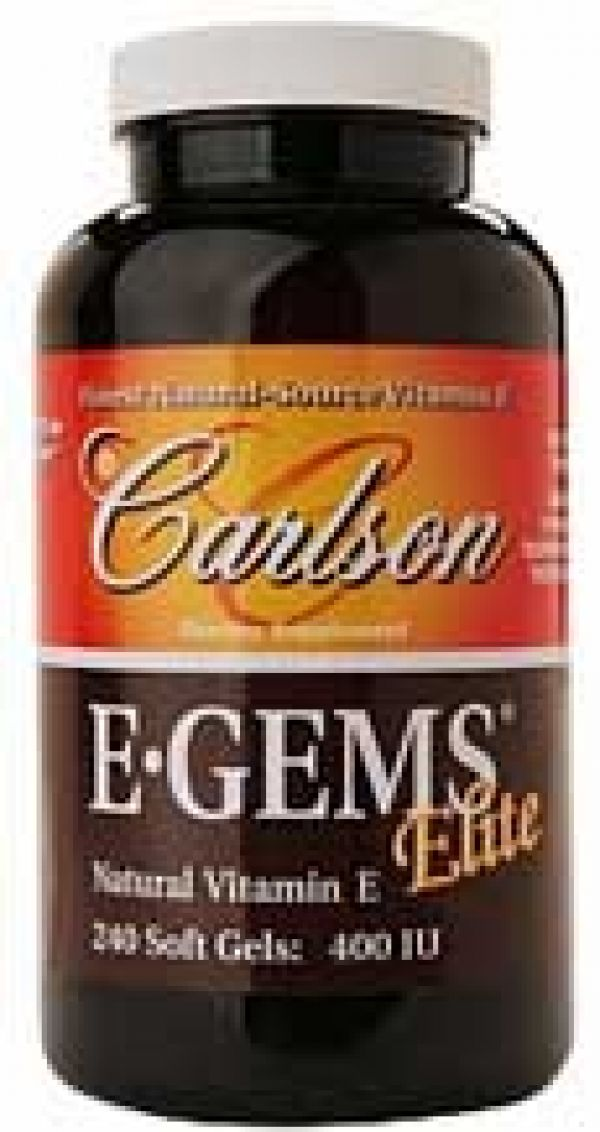 Carlson E-Gems Elite 400 IU 60 Softgels