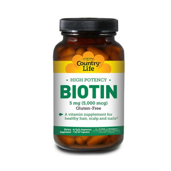 Country Life Biotin 120 vegi caps