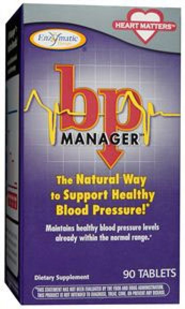 Enzymatic Therapy Blood Pressure Manager 90 Tablets