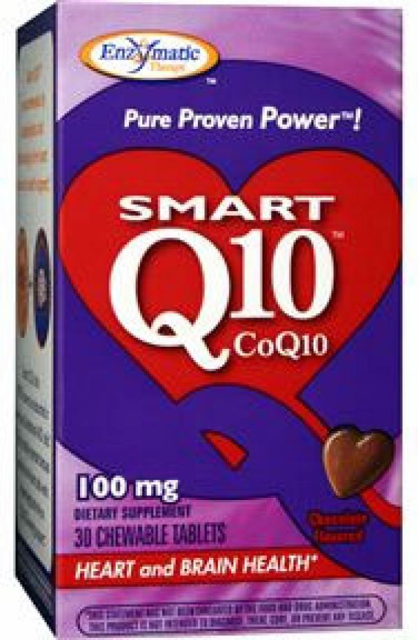Enzymatic Therapy CoQ10 Vitaline Chewable 100mg Chocolate 30 Tabs