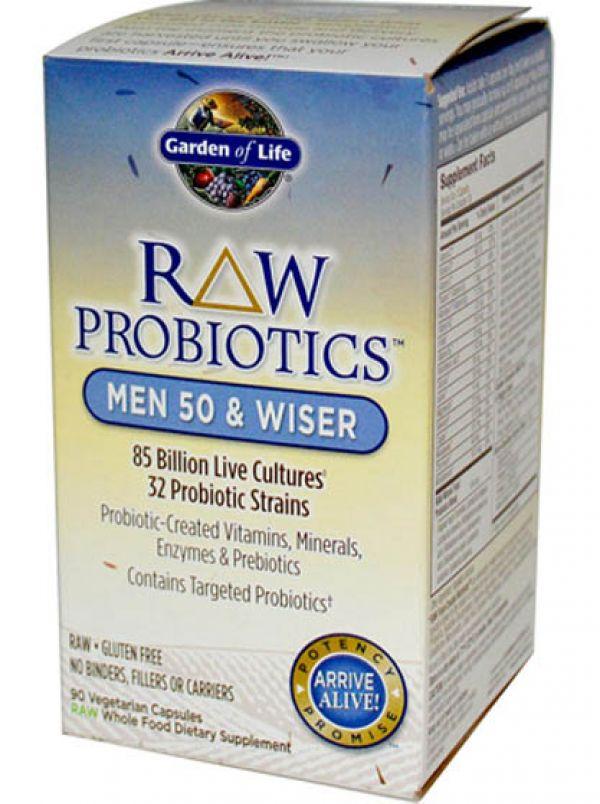 Garden of Life Raw Probiotics Men 50 and Wiser 90 Vege Caps