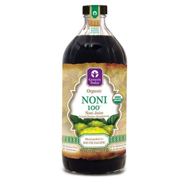 Genesis Today Organic Noni 100 Noni Juice 32 oz