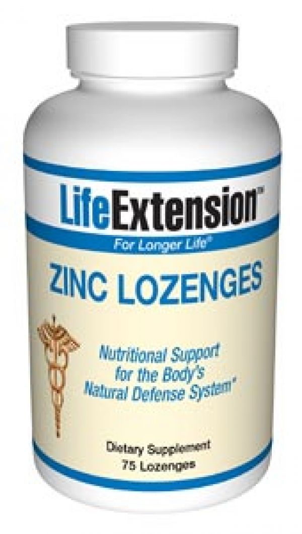 Life Extension Zinc Lozenges 23mg 75 Lozenges