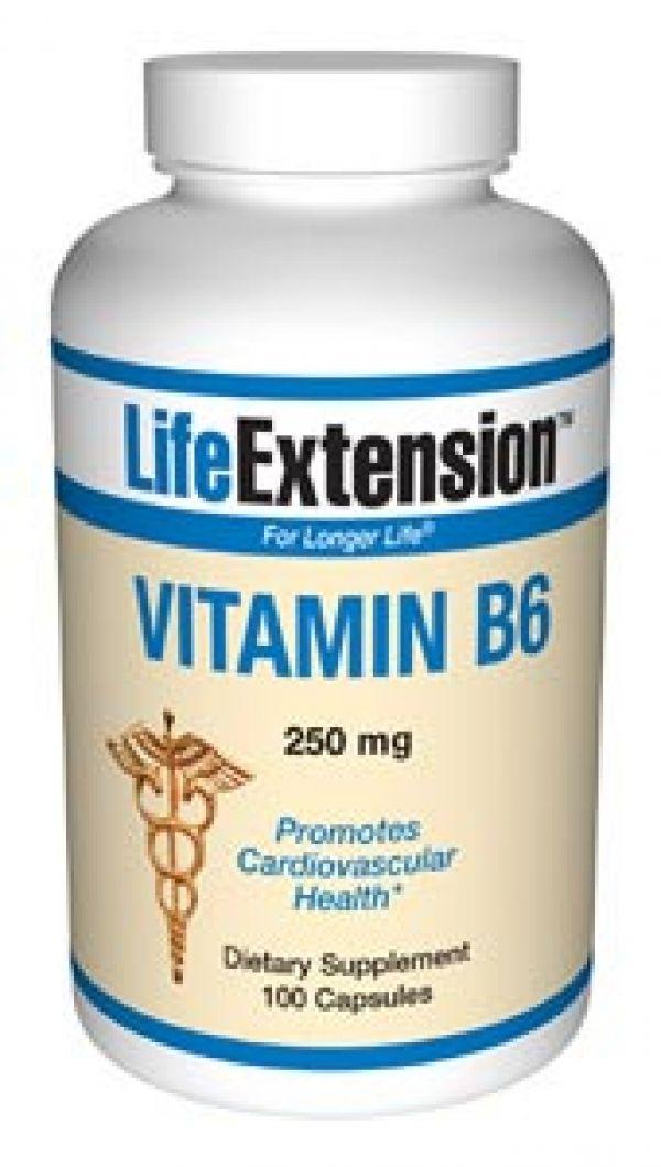 Life Extension Vitamin B6 250mg 100 Caps