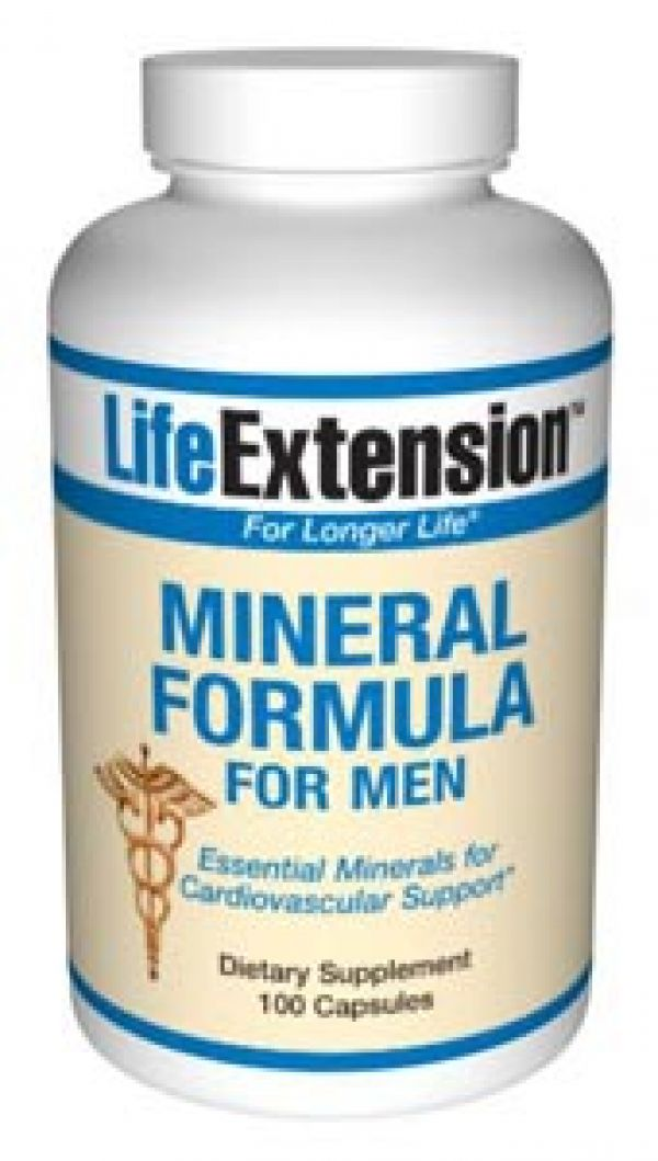 Life Extension Mineral Formula For Men 100 Caps