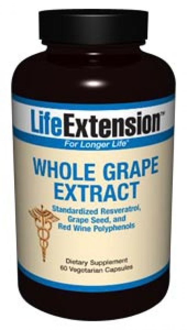 Life Extension Whole Grape Extract 60 Vegecaps