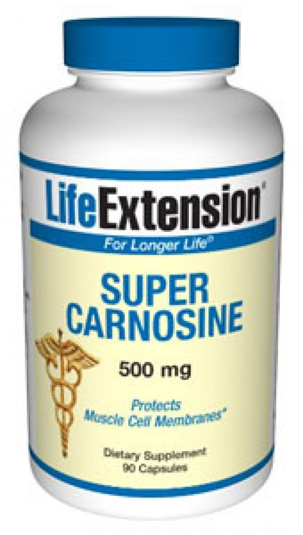 Life Extension Super Carnosine 500mg 90 Caps