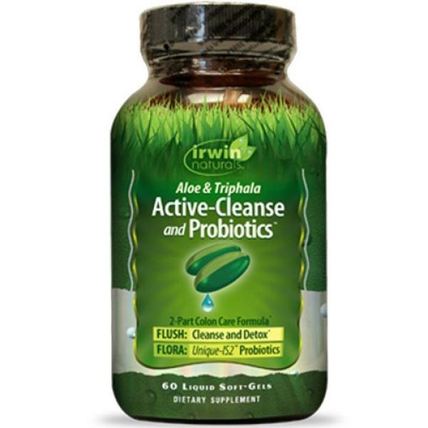 Irwin Naturals Active-Cleanse and Probiotics 60 Liquid Soft Gels