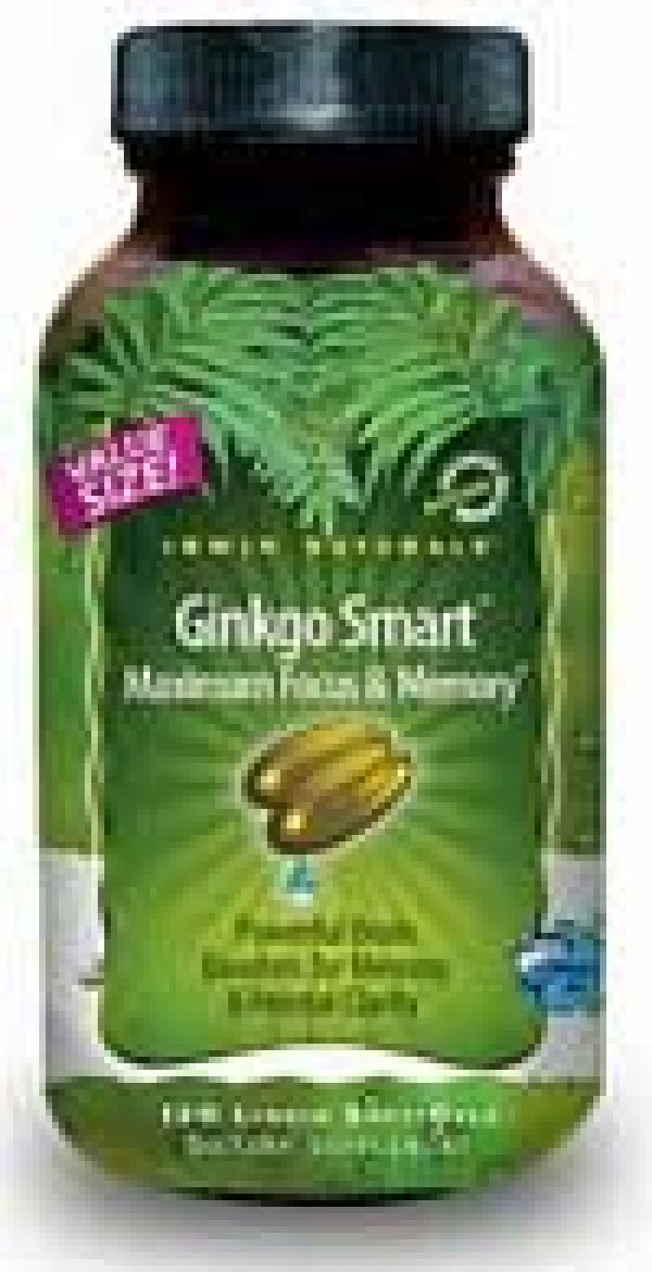 Irwin Naturals Ginkgo Smart 120 Liquid Soft Gels