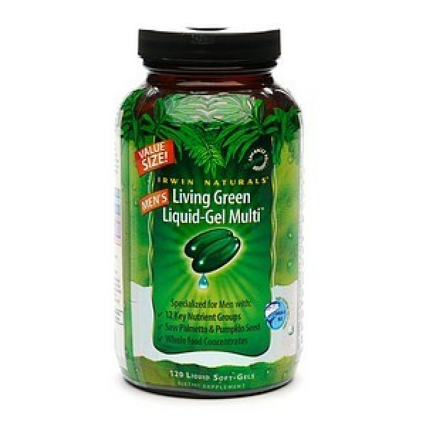 Irwin Naturals Men's Living Green Liquid-Gel Multi 120 Gels