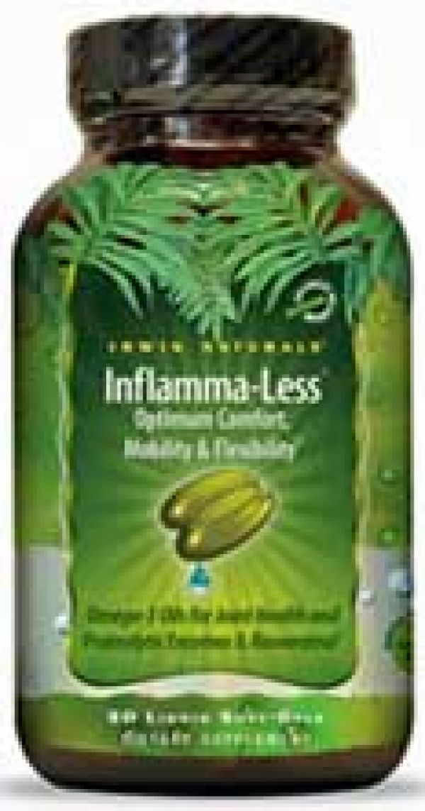 Irwin Naturals Inflamma-Less Tissue and Mobility Support 80 Gels