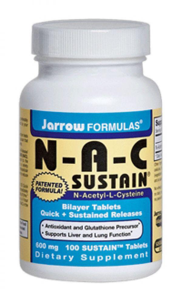 Jarrow Formulas N-A-C Sustain 600mg 100 Tabs