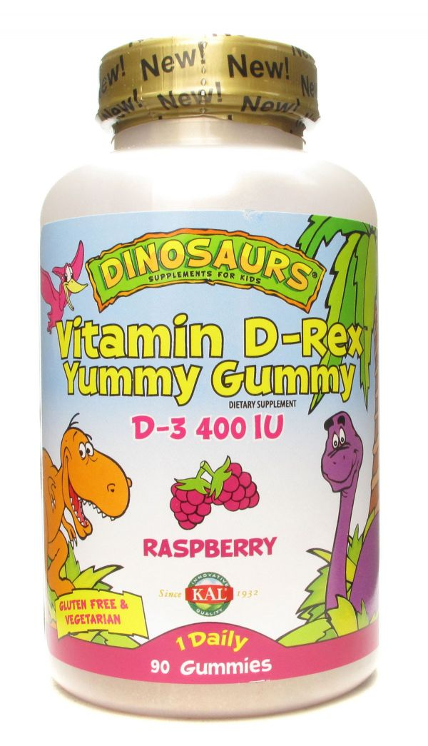 Kal Vitamin D-Rex Yummy Gummy Raspberry 90 Gummies