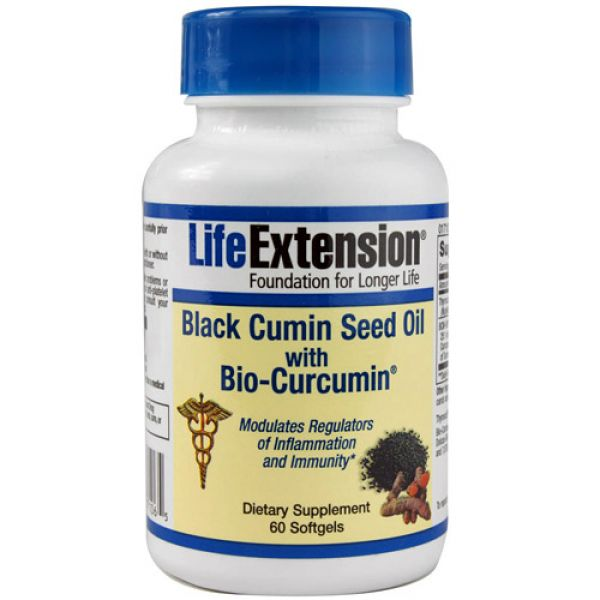 Life Extension Black Cumin Seed Oil with Bio-Circumin 60 Softgels