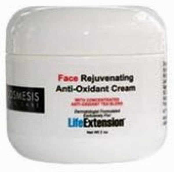 Life Extension Face Rejuvenating Anti-Oxidant Cream 2 oz