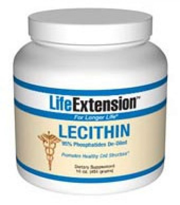 Life Extension Lecithin (95% Phosphatides de-oiled) 16oz granules