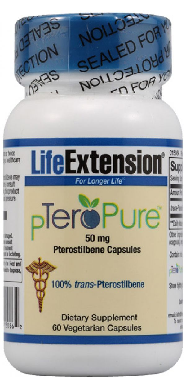 Life Extension pTeroPure 50mg 60 Vege Caps