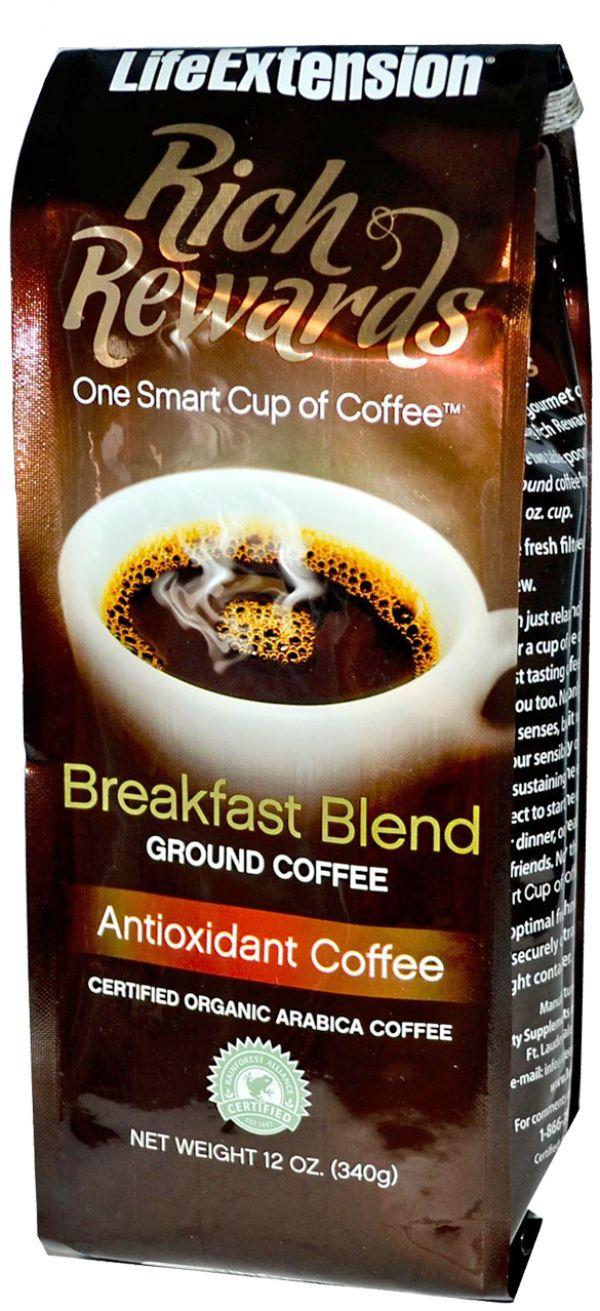 Life Extension Rich Rewards Breakfast Blend Ground Coffee