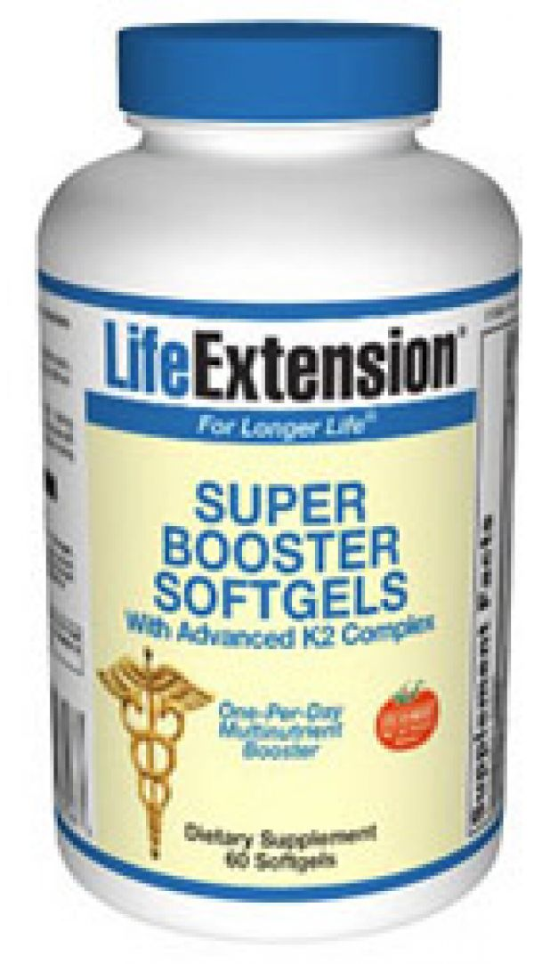 Life Extension Super Booster SoftGels with Advanced K2 Complex 60 Softgels