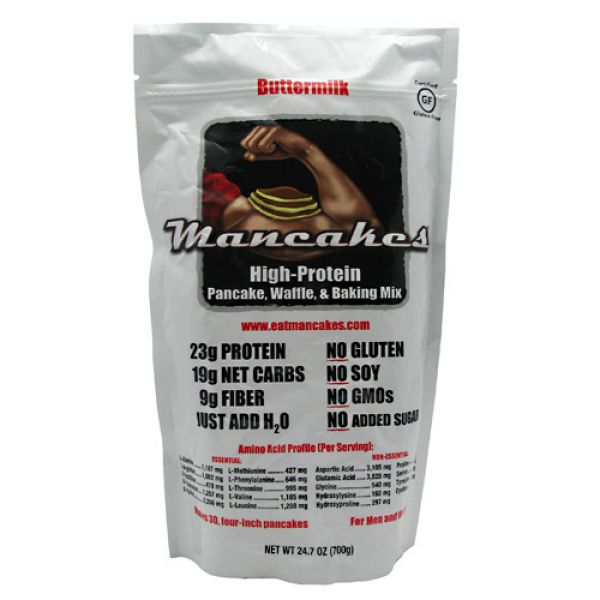 Mancakes High-Protein Pancake, Waffle and Baking Mix Buttermilk 10 Servings