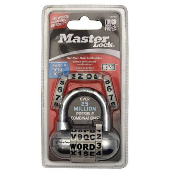 Master Lock Password Padlock Model #1534D