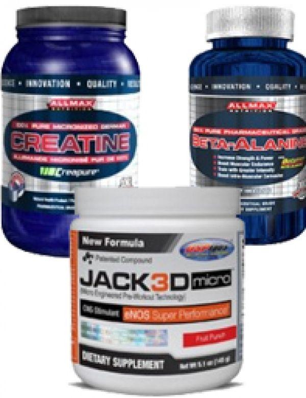 Jack3d Micro Muscle Stack (Jack3d Micro, Creatine, Beta Alanine)
