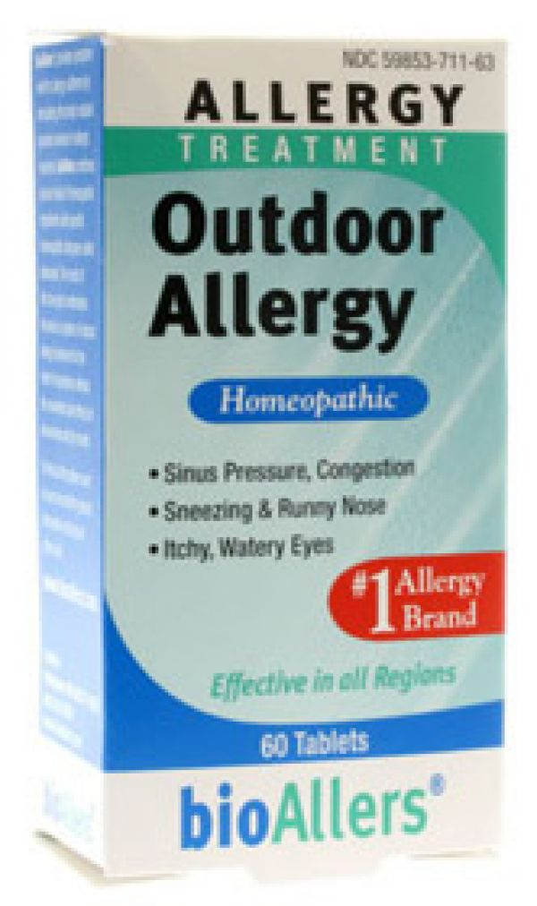 Natra-Bio Bioallers Outdoor Allergy 60 Tablets