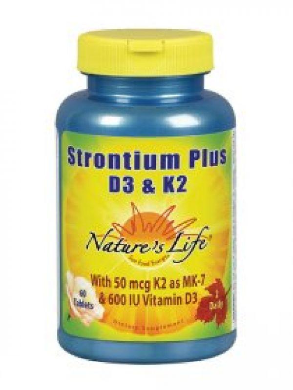 Nature's Life Strontium Plus D3 & K2 60 Tabs