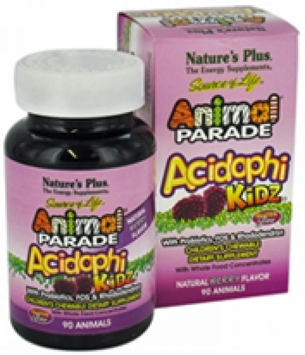 Nature's Plus Animal Parade Acidophi-Kidz Berry 90 Chews