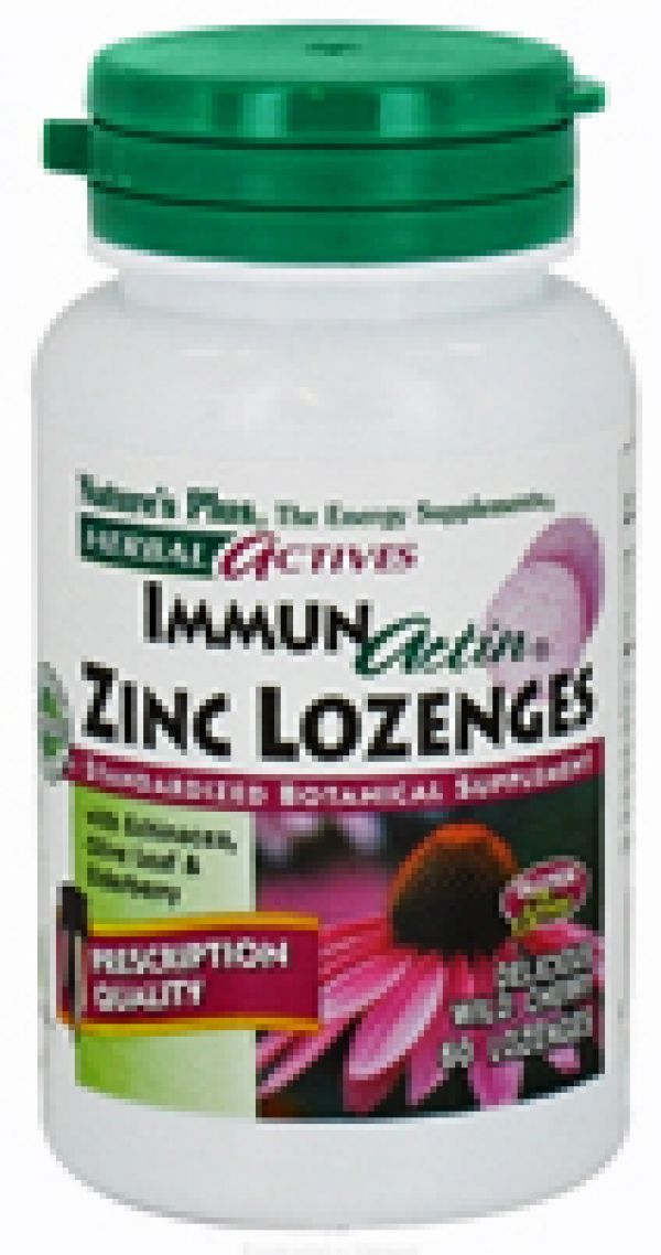 Nature's Plus Immun-Actin Zinc Loczenges 60 Loczenges