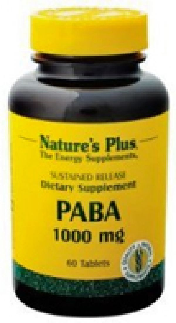 Nature's Plus PABA 1000mg 60 Tabs