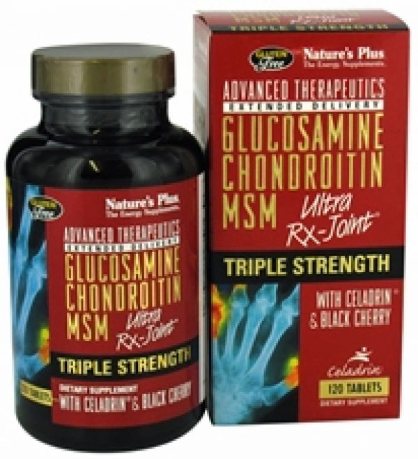 Nature's Plus Triple Strength Ultra Rx-Joint (Glucosamine/Chondroitin/MSM) w/Celadrin and Black Cherry 120 Tabs