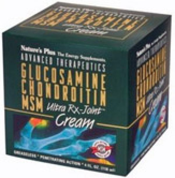 Nature's Plus Ultra RX Joint Cream (Glucosamine/Chondroitin/MSM) 4 Oz Tube