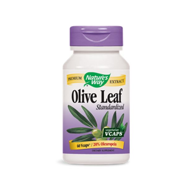 Nature's Way Olive Leaf Extract Standardized 20% Oleuropein 60 Vege Caps
