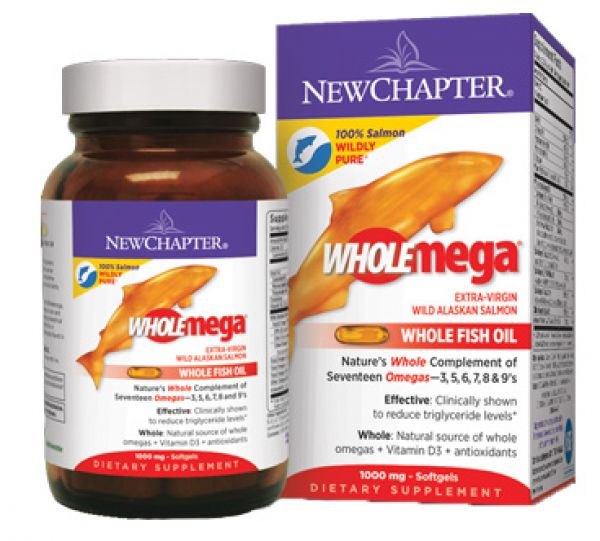 New Chapter WHOLEmega 1000mg 120 Soft Gels