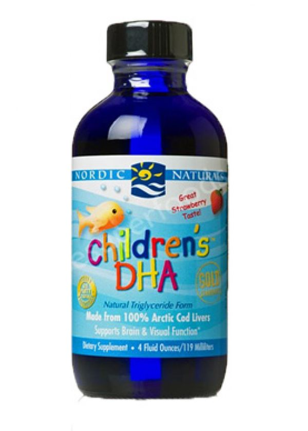 Nordic Naturals Children's DHA Liquid Strawberry 8 Fl Oz