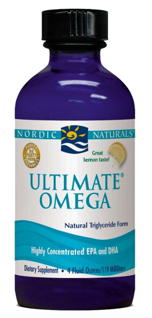 Nordic Naturals Ultimate Omega Liquid Lemon 4 Fl Oz