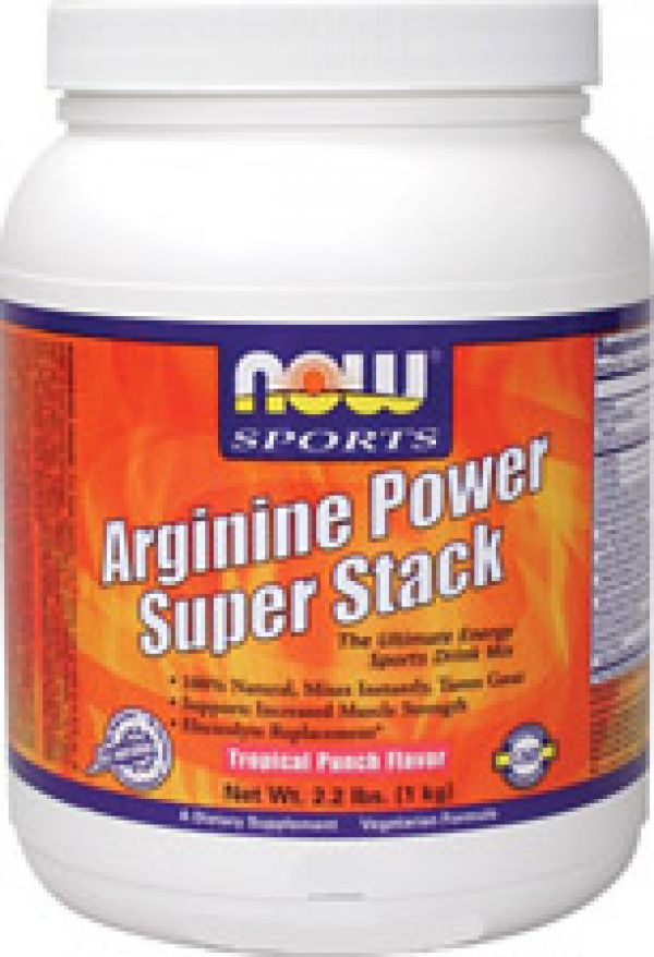 Now Foods Arginine Power Super Stack Tropical Punch Flavor 2.2 Lb