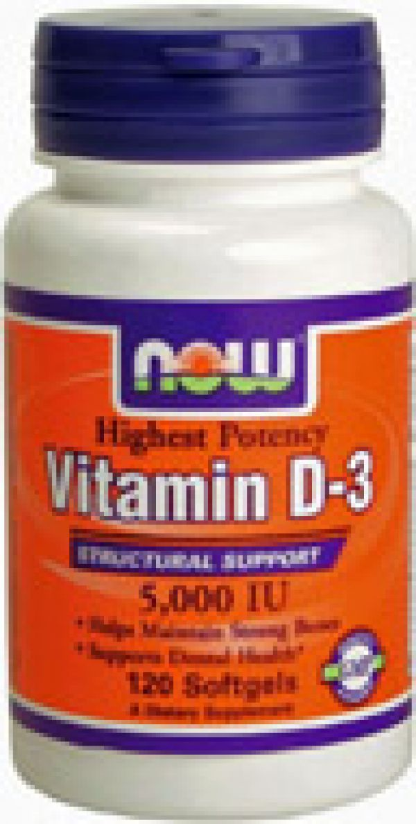 Now Foods Vitamin D-3 5000IU 120 Gels