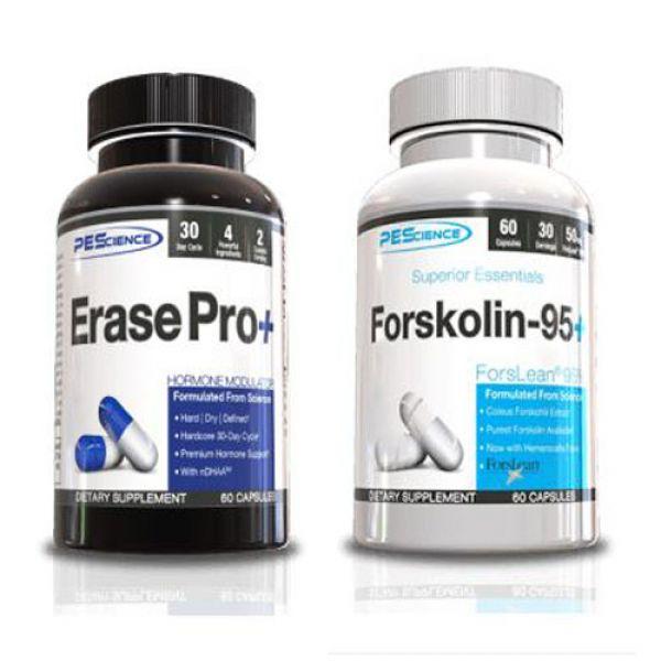PEScience Erase Pro+ & Forskolin-95+ Stack