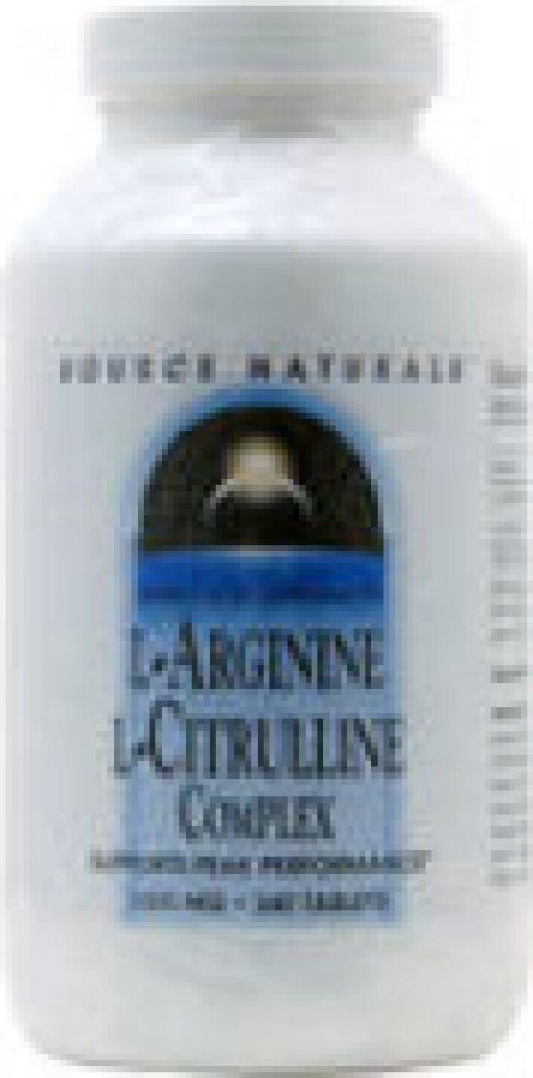Source Naturals L-Arginine/L-Citrulline Complex 1000mg 60 Tabs