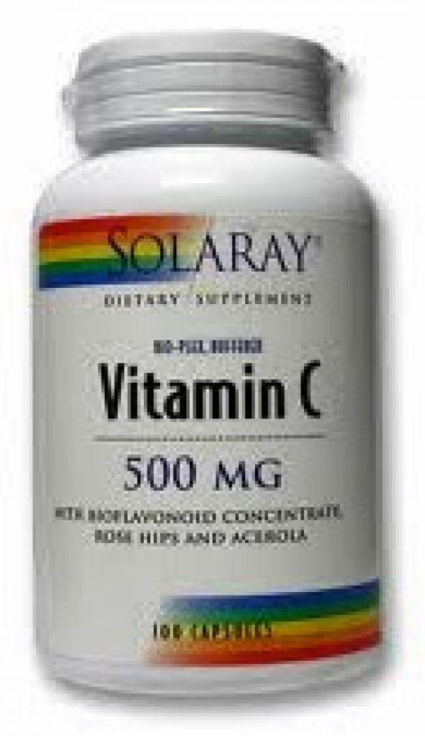 Solaray Bio-Plex Buffered Vitamin C 500mg 100 Caps