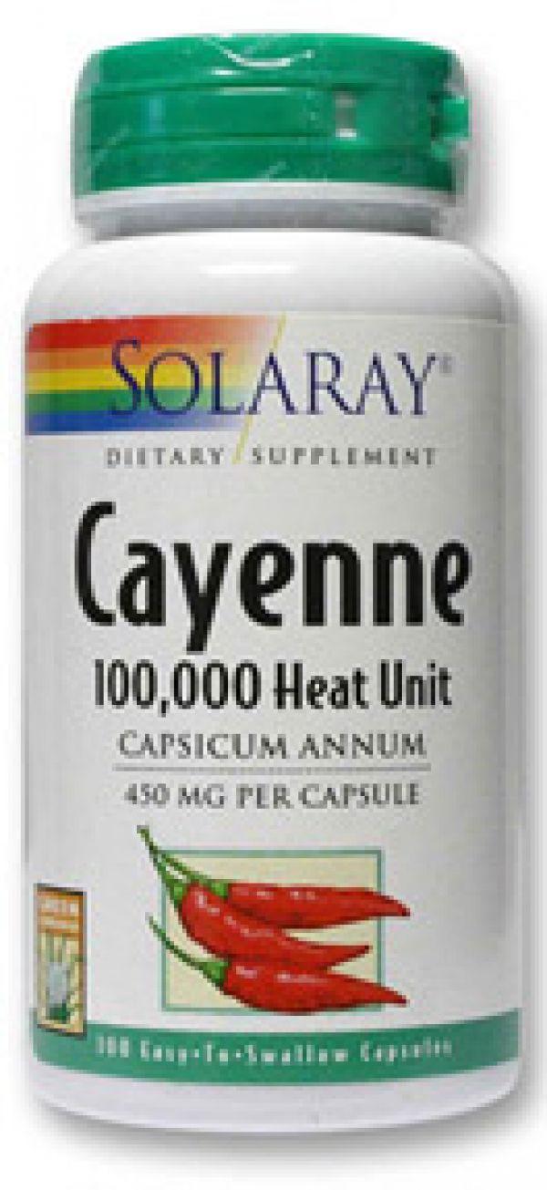 Solaray Cayenne 450mg (100,000 Heat Unit) 100 caps